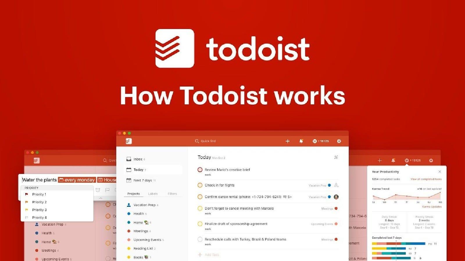 The Todoist website.