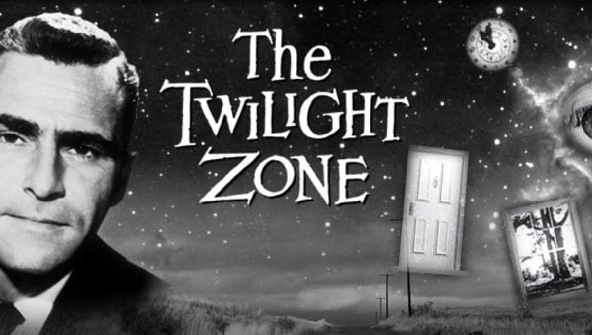A promotional image for The Twilight Zone.