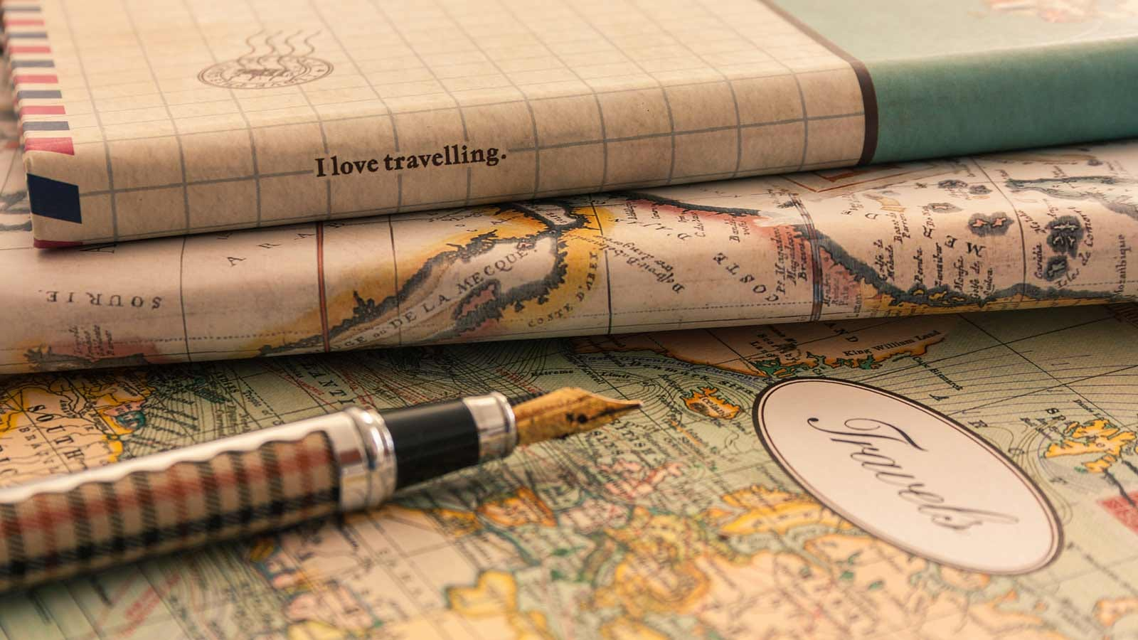Book covers made from old maps.