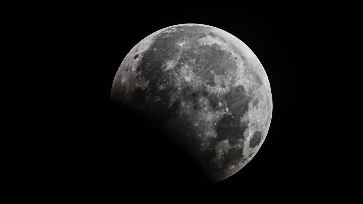A partial lunar eclipse.