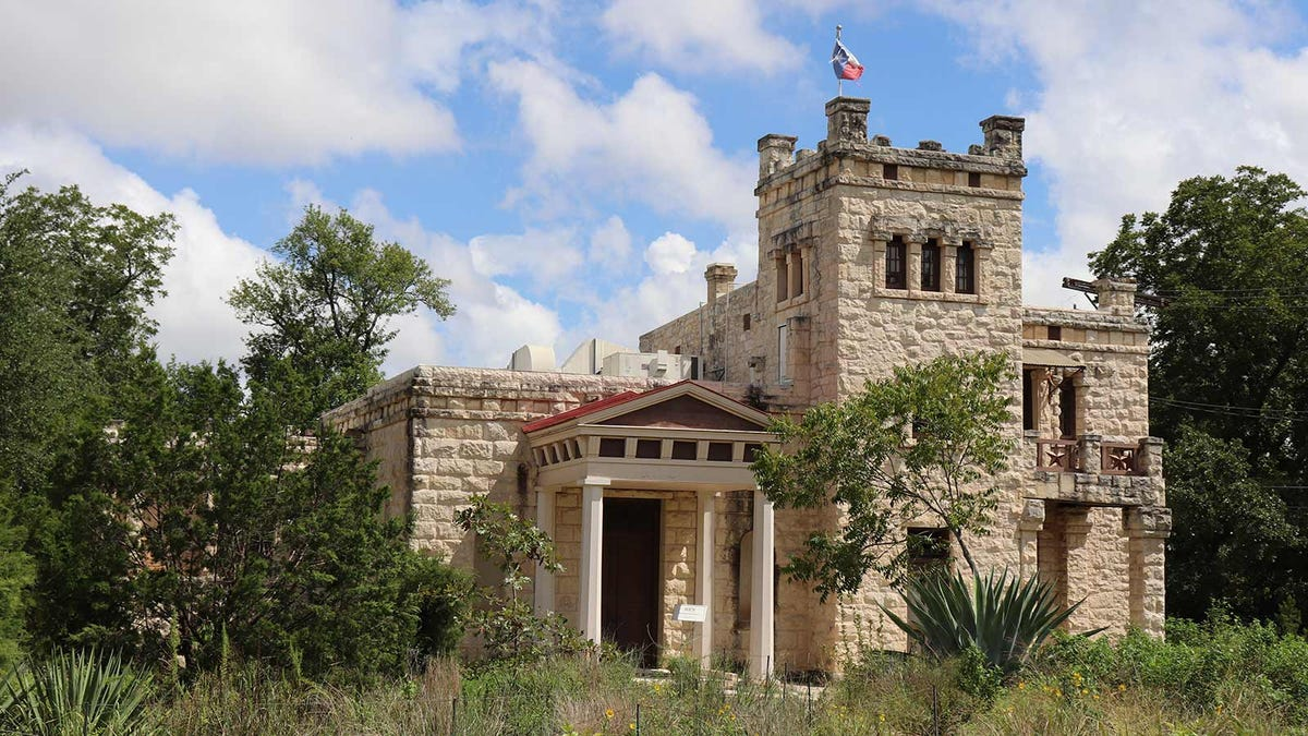 The castle-like exterior of the Elisabet Ney Museum in Austin, Texas