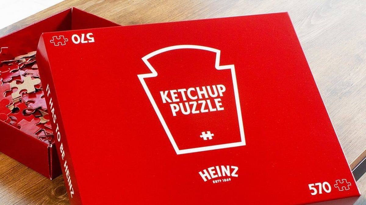 The HEINZ Ketchup jigsaw puzzle box.