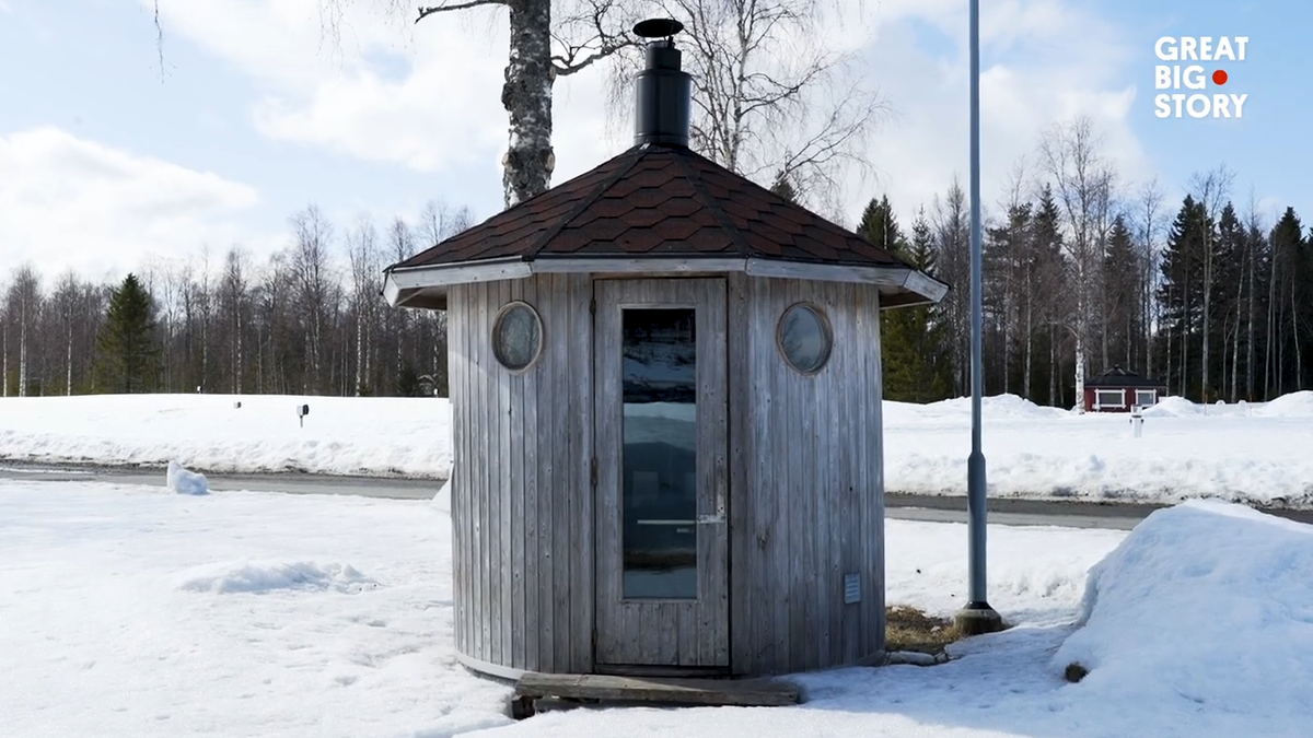 A small sauna in the Finnish countryside.