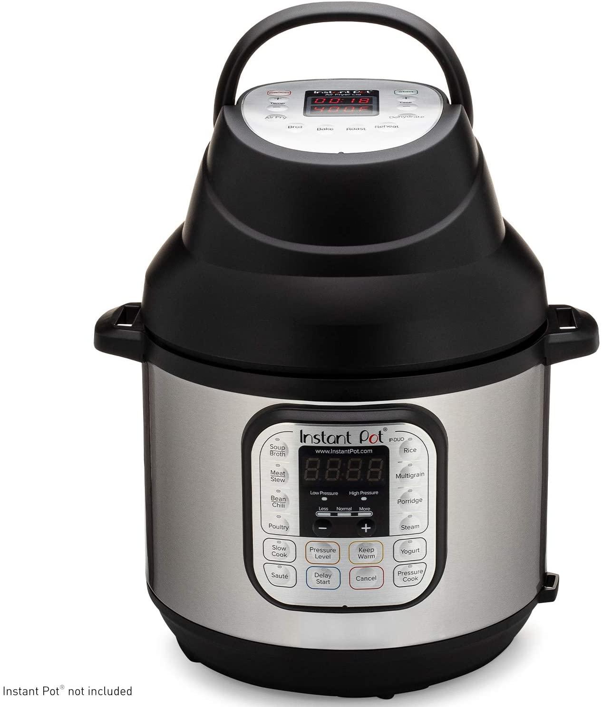 An Instant Pot attachment creates an Air Fryer.