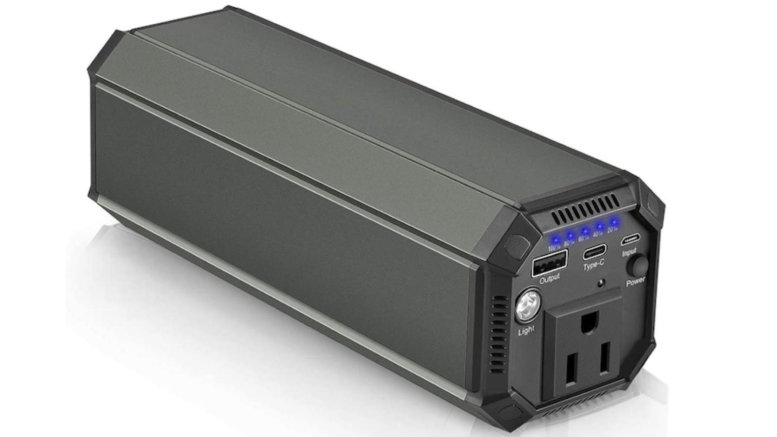 long narrow dark gray laptop charger