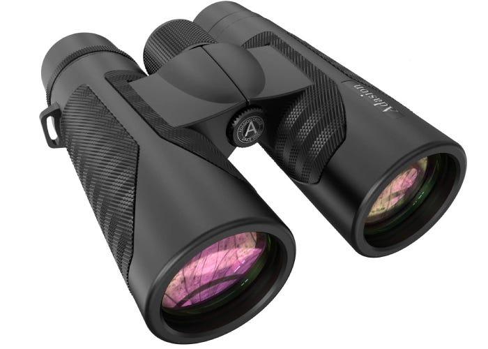 black camera binoculars