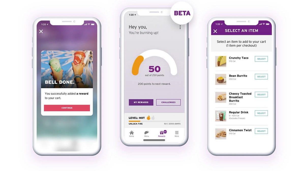 Taco Bell Reward App.