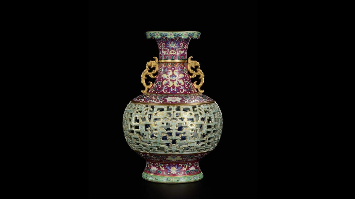 An 18th century Chinese vase that recently sold for millions of dollars at auction.