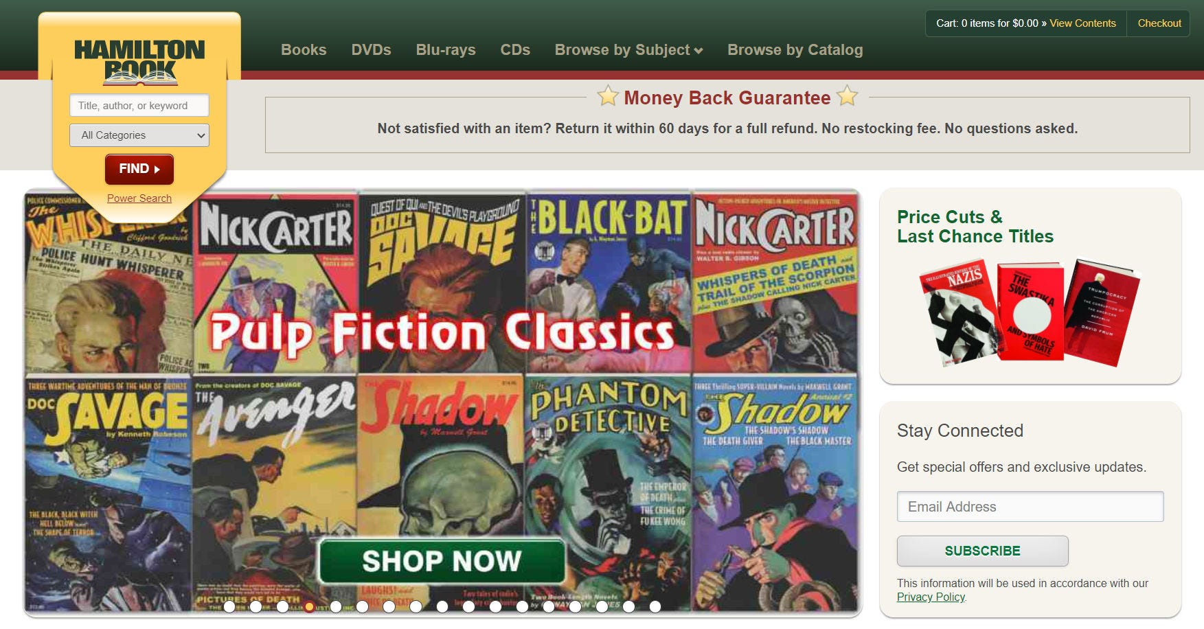 The Hamilton Book website.