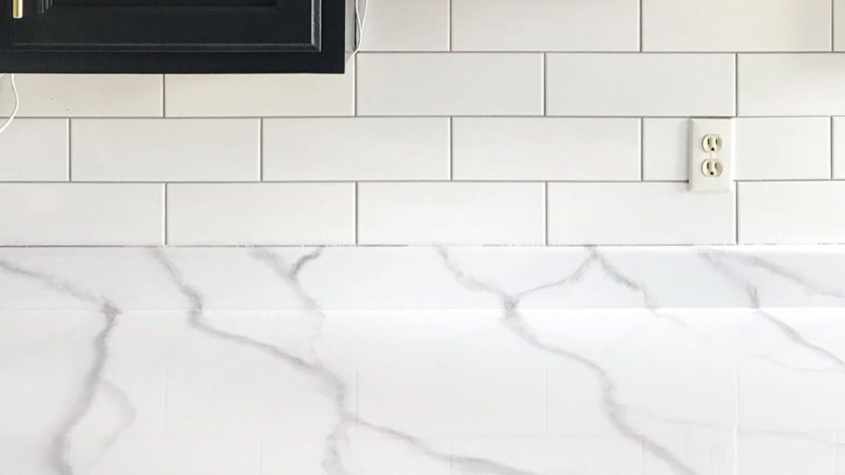 Marble countertops.