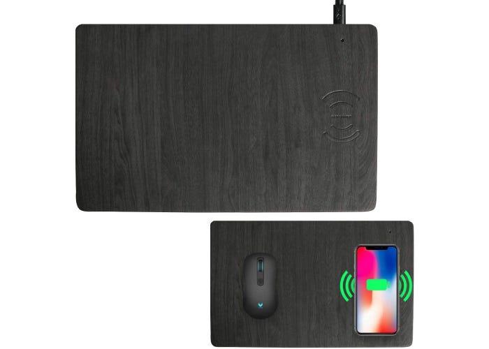 textured black charging pad
