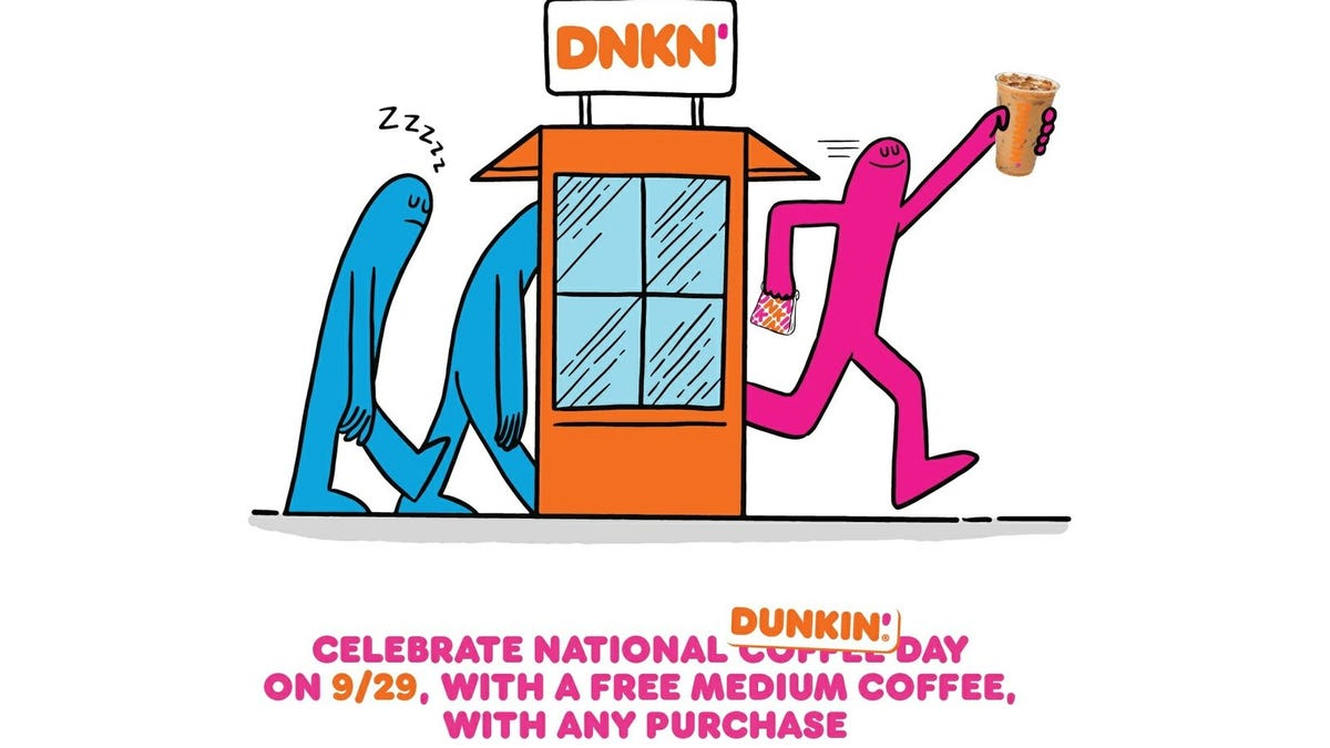 A Dunkin' ad for National Coffee Day.