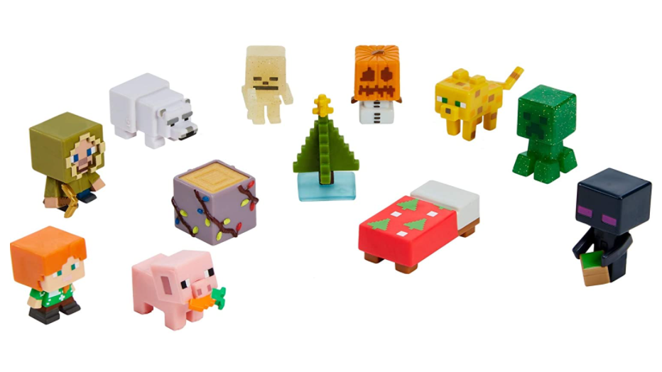 Figures from the Minecraft Advent Calendar.
