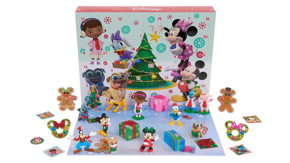 The Disney Junior Advent Calendar box and pieces.