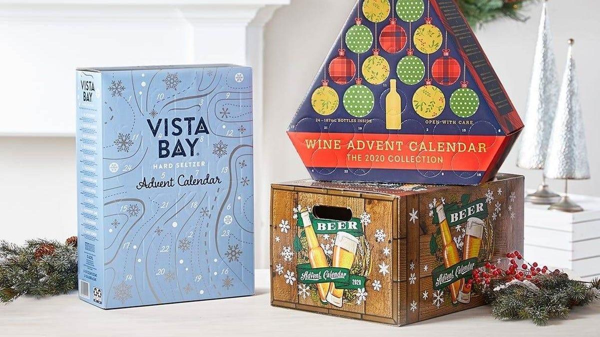 Assortment of Aldi's Advent Calendars