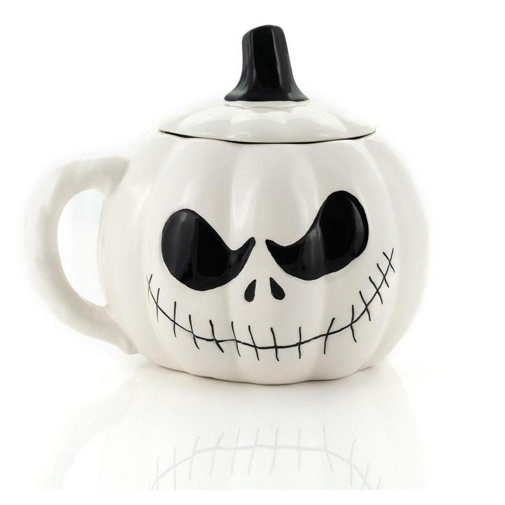 Jack Skellington mug with a lid.