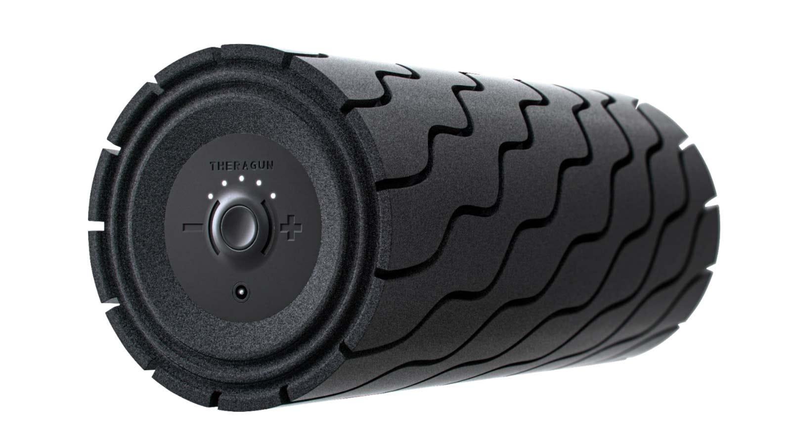 Therabody's deep tissue Theragun Wave roller.
