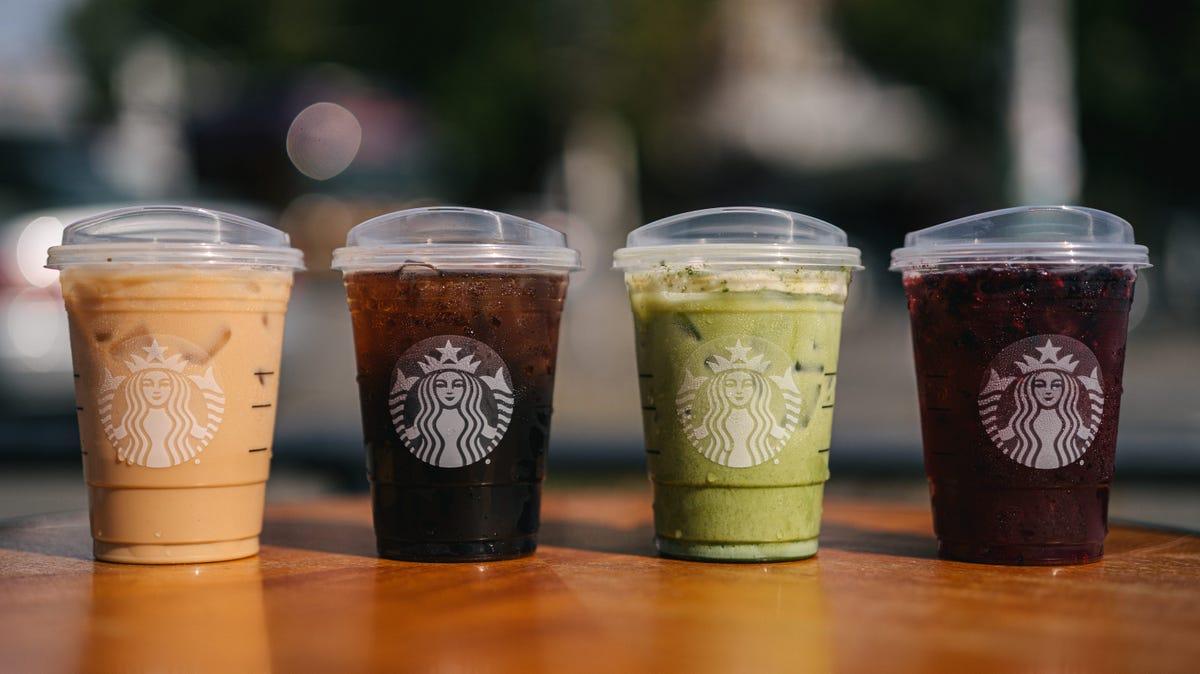 Strawless lids at Starbucks