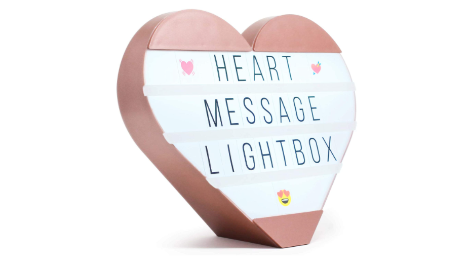 Heart Message Lightbox