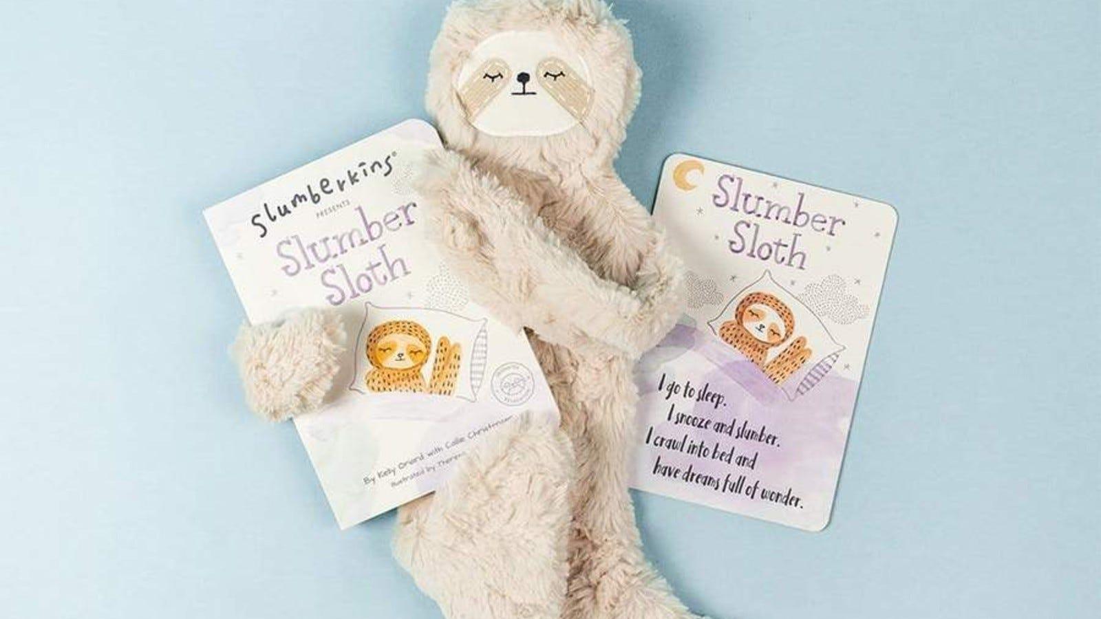 The Slumberkins Slumber Sloth and book.