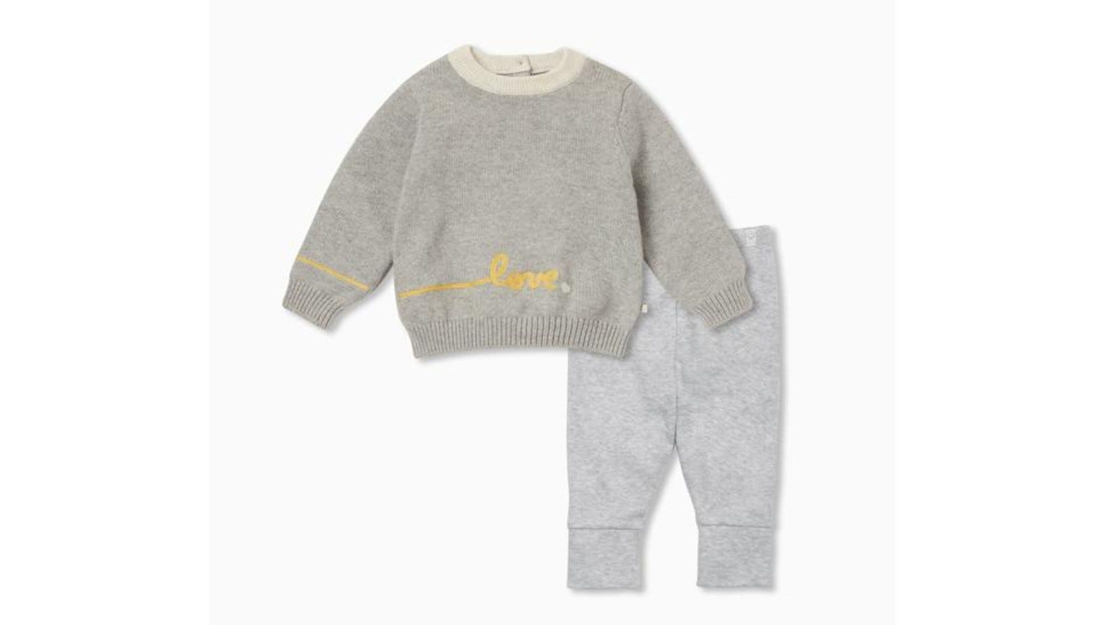 The Knitted Slogan Jumper and Leggings Outfit.