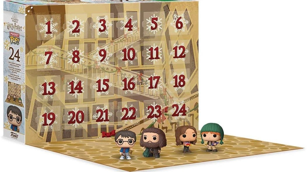 Four characters from Harry Potter on the Harry Potter Advent Calendar.