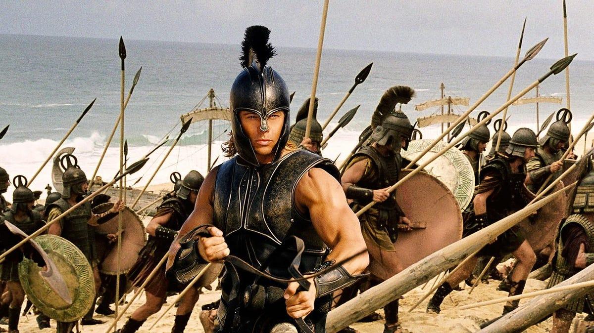 """Brad Pitt as Achilles in """"Troy."""""""