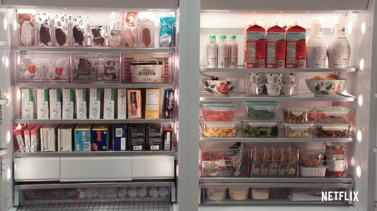 A fully organized fridge