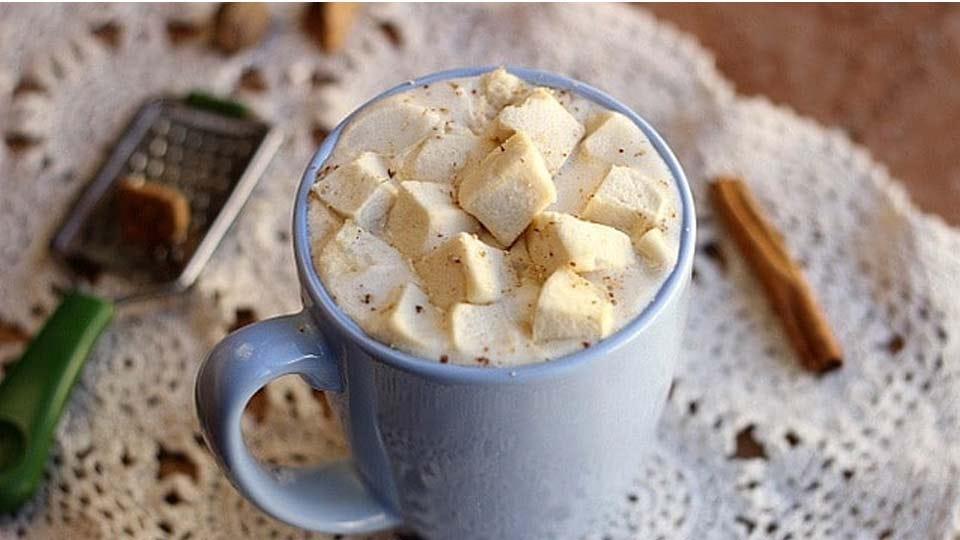 A mug of hot vanilla.