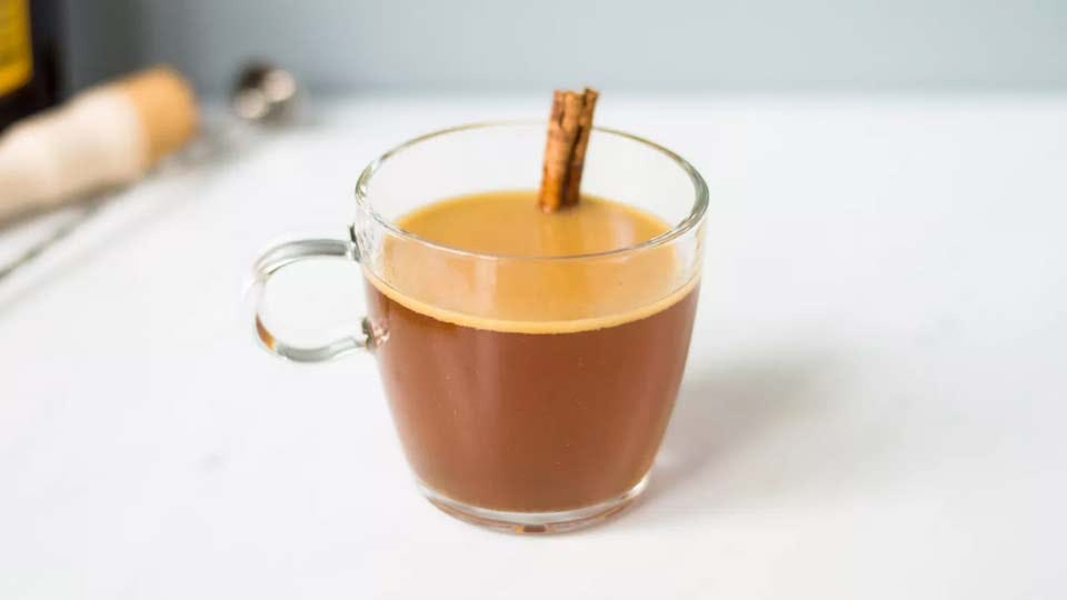 A mug of buttered rum.
