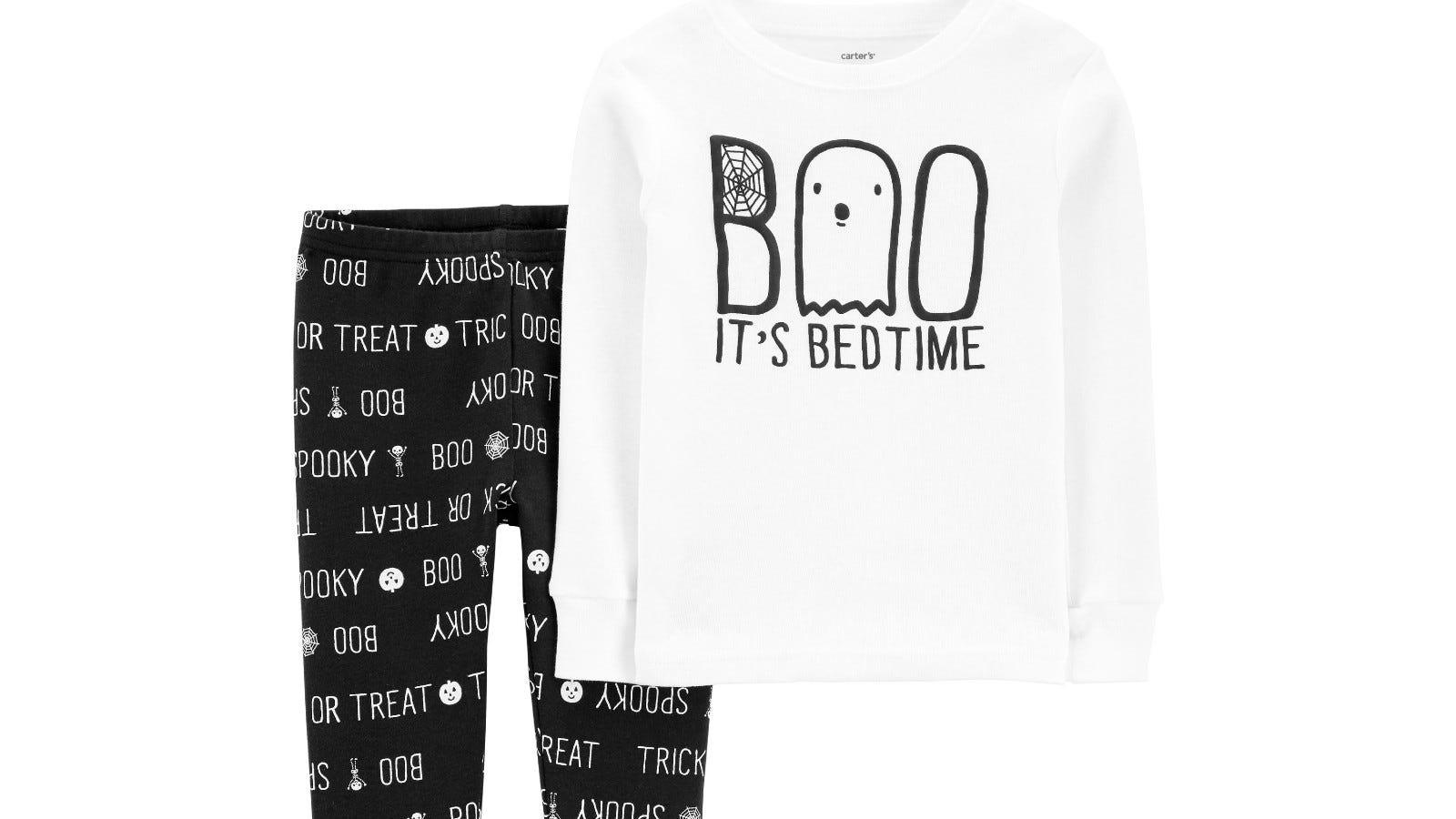 Carter's Two-Piece Boo Halloween Snug Fit PJ's.
