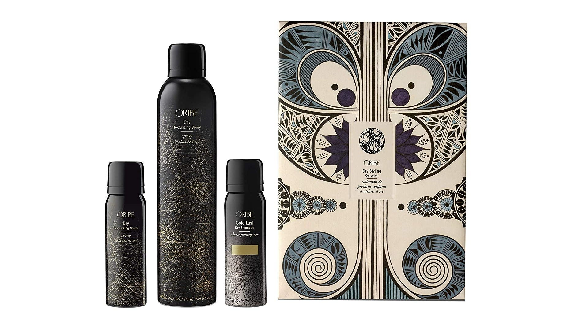 The Oribe Dry Styling Collection and package.