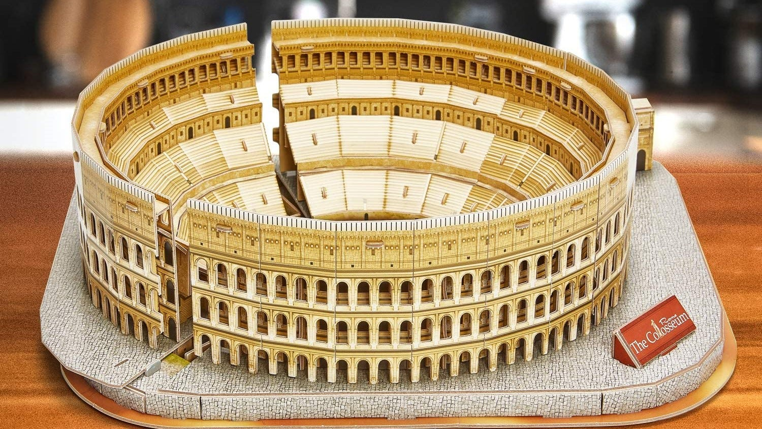 The Roman Colosseum 3D puzzle, fully assembled.