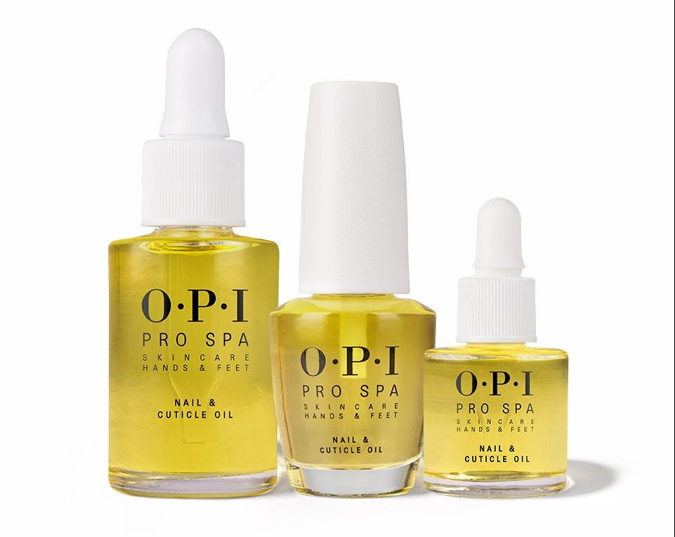 Three bottles of OPI Nail and Cuticle oil.