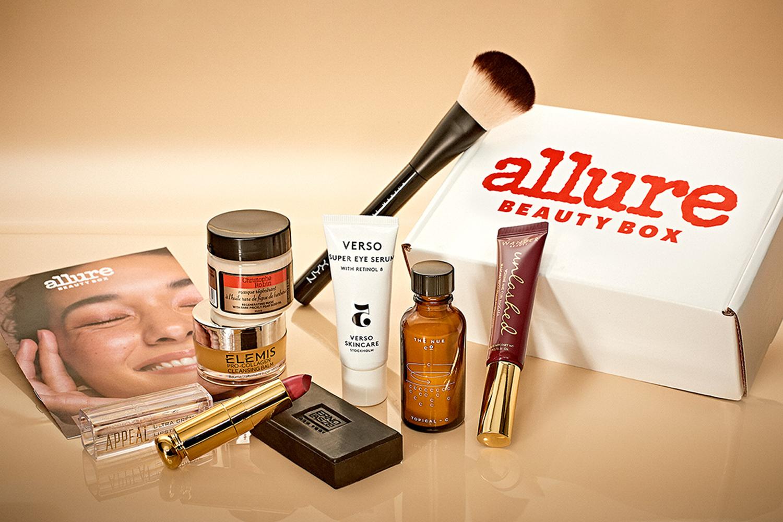 Allure Beauty box beauty products bundle.