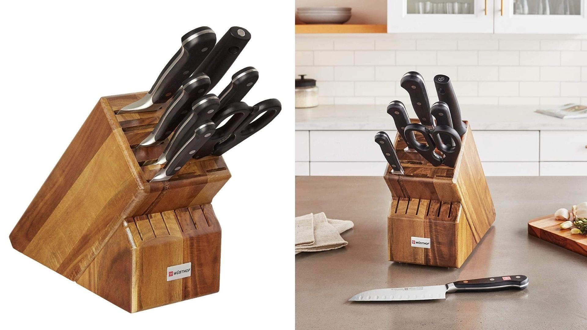 A Wüsthof knife block set.