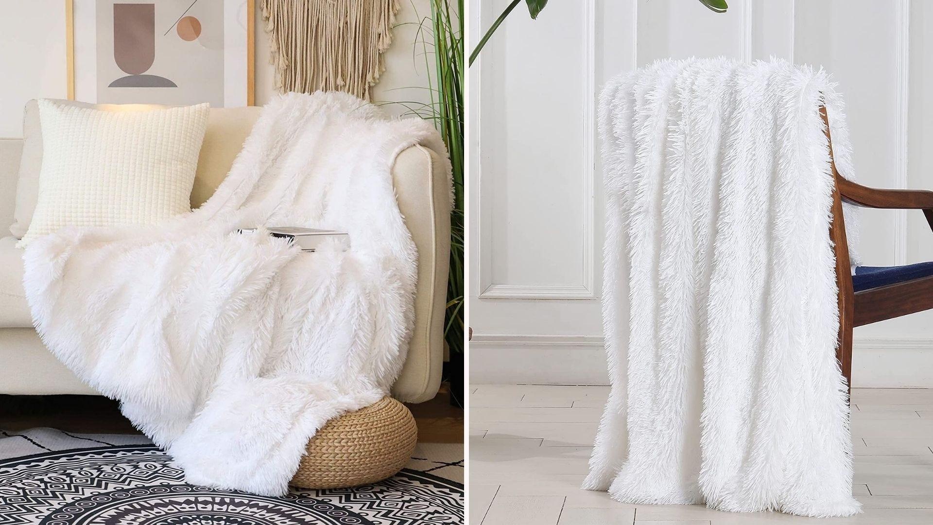 A super soft faux fur blanket.