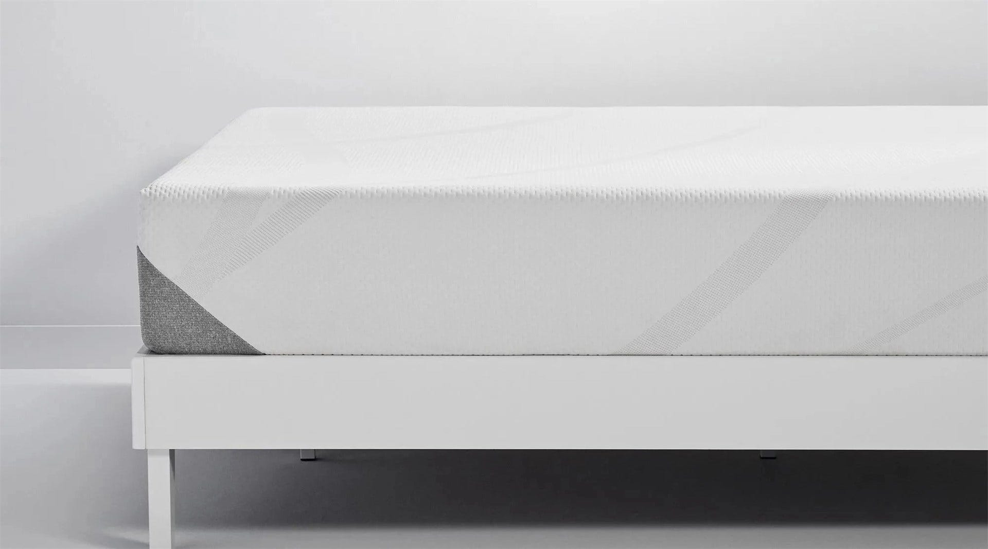 A side view of the Tempur-Cloud mattress