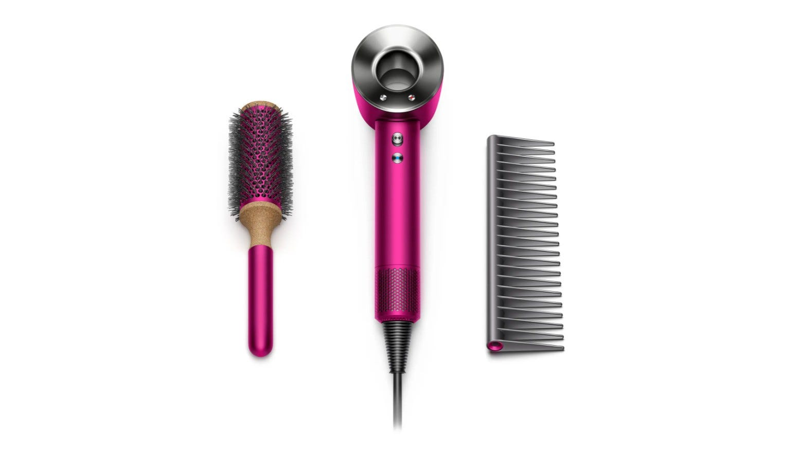 The Dyson Supersonic Hair Dryer Fuchsia Gift Edition.