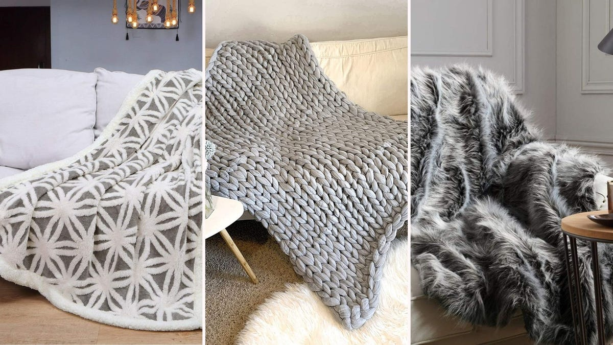 A variety of soft and cozy blankets