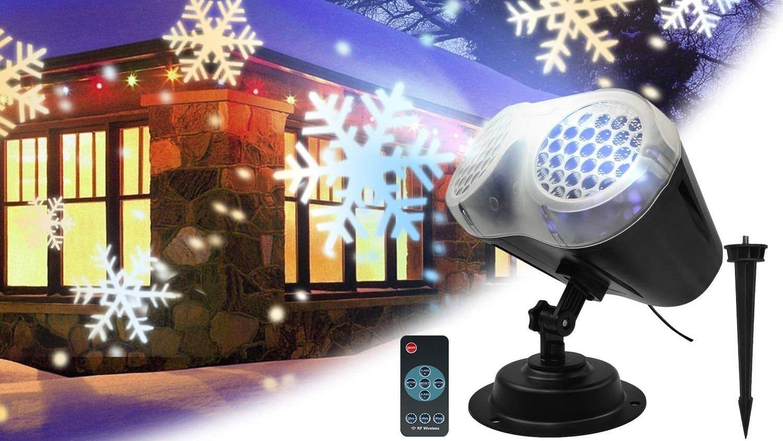 Snowflake projector light