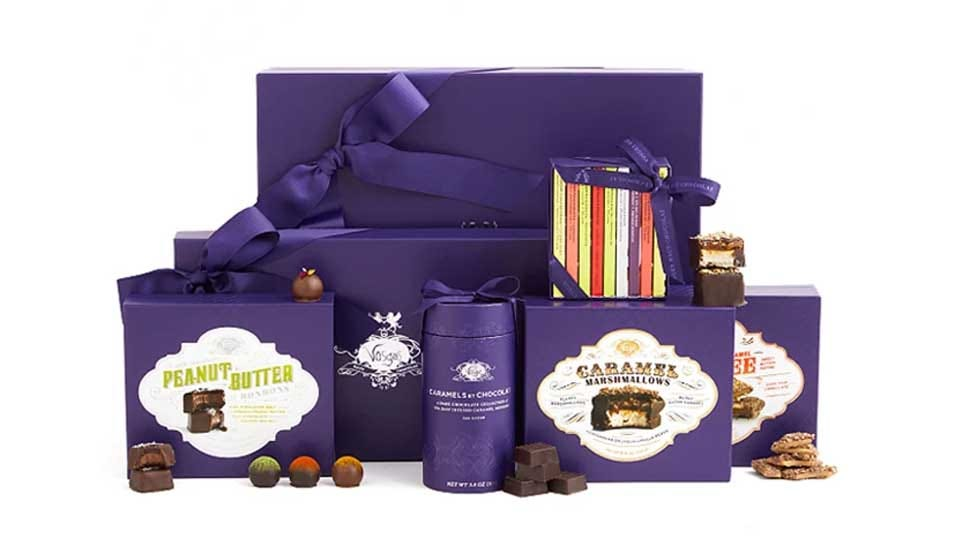 An example of the Vosges luxurious chocolate-of-the-month club offerings.