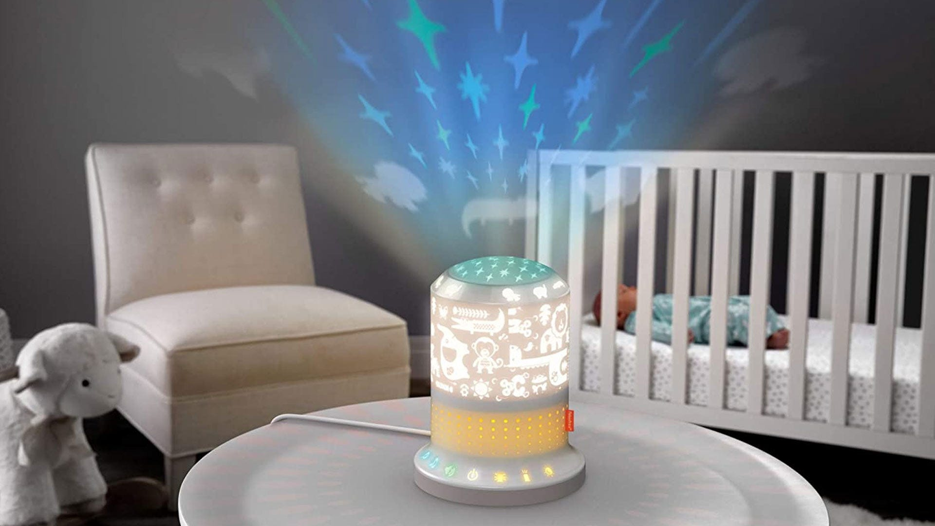 """A Fisher-Price """"smart soother"""" nightlight that creates a pattern on the ceiling."""