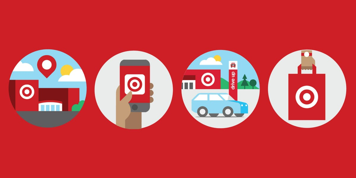 An illustration of the many ways to check out at Target.
