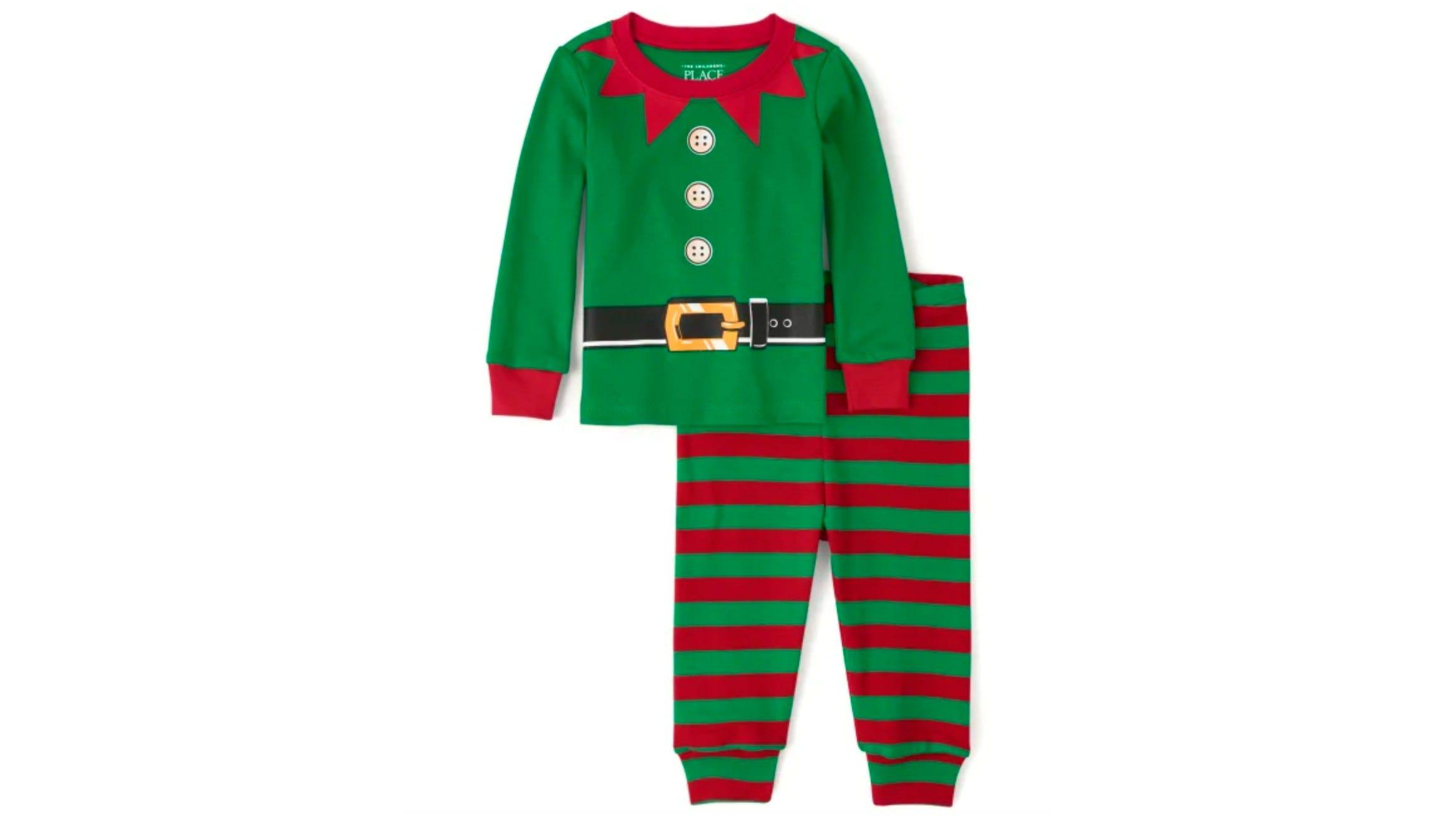 The Children's Place Elf Snug Fit Cotton Pajamas