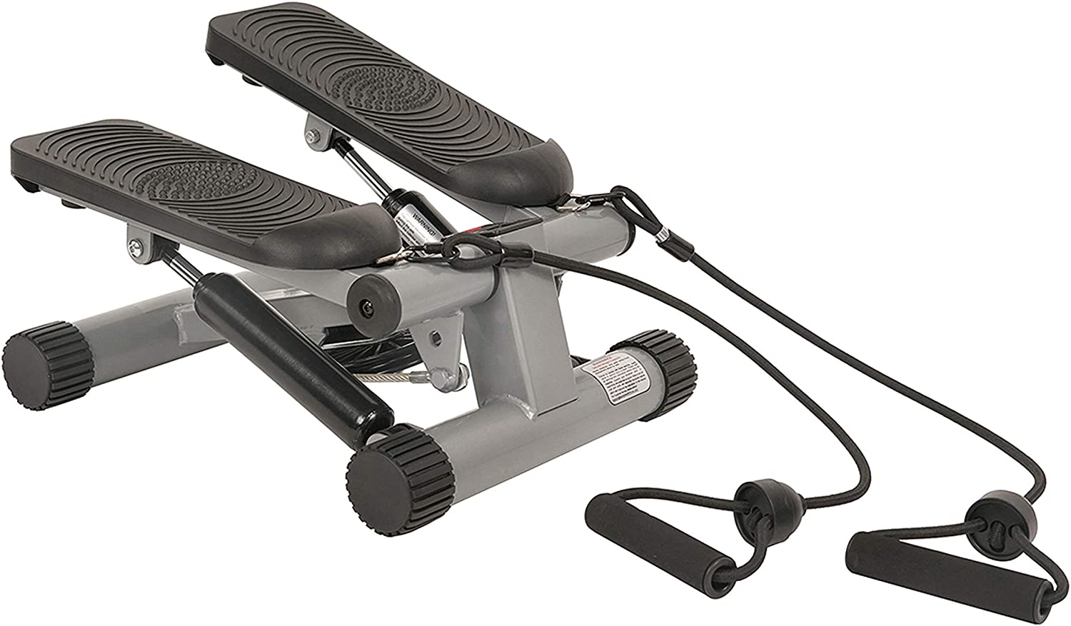 Visual of the mini stair stepper with resistance bands.