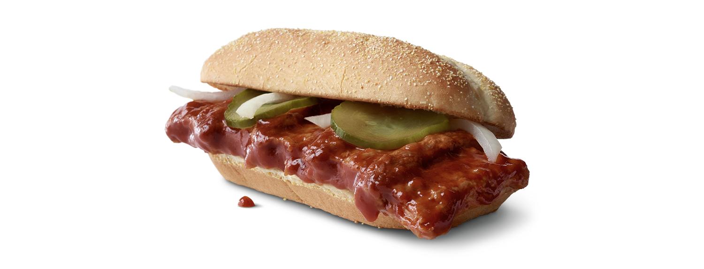 A McDonald's McRib sandwich.