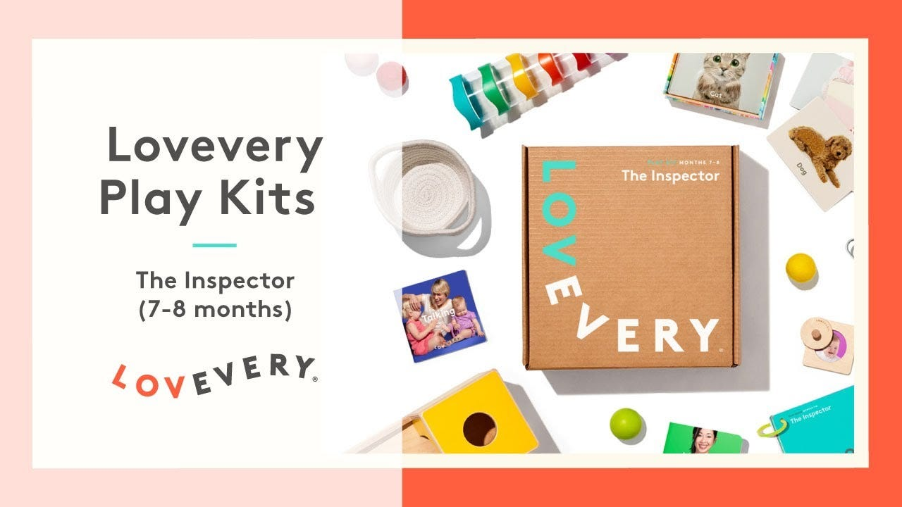 """""""The Inspector"""" Lovevery kit for babies 7-8 months old."""