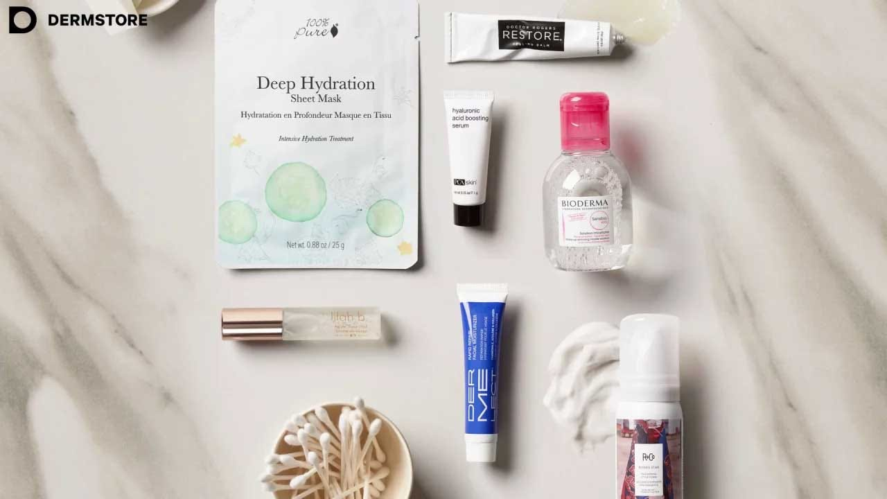 An example of a Dermstore skincare box.