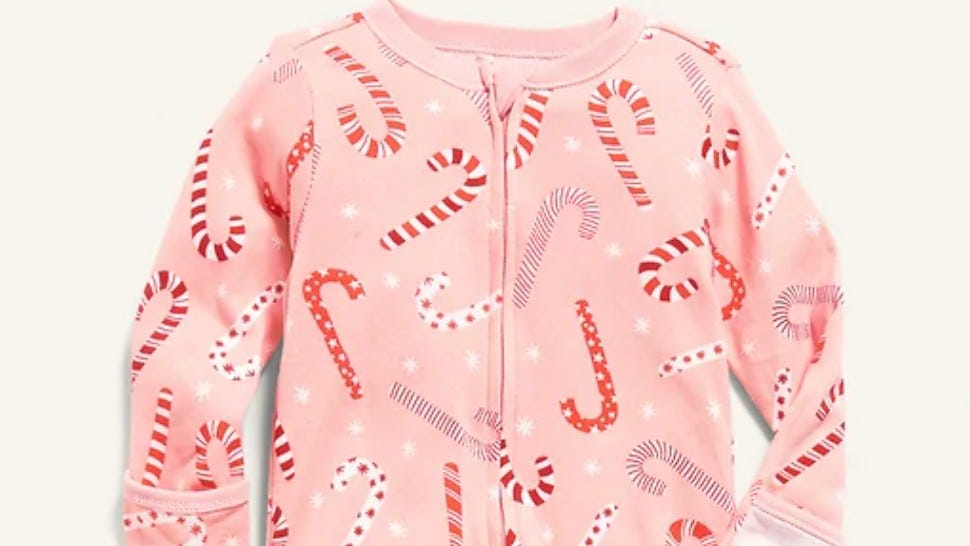 Old Navy Holiday Printed Footed One-Piece